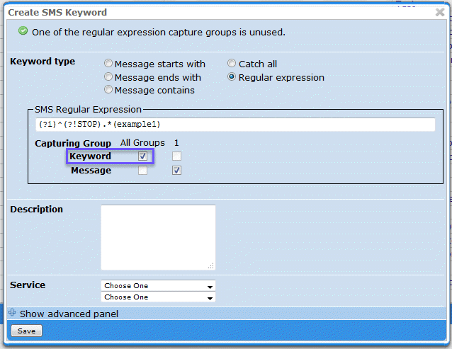 Using a Regular Expression to Capture a Keyword