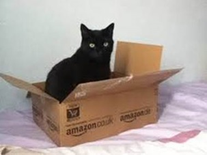black cat amazon box sms mobile engagement