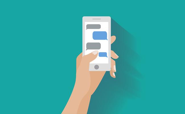 green-text-message
