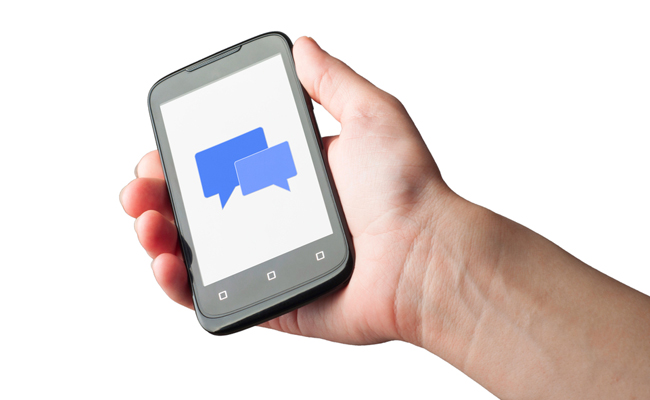 Use SMs and MMS to communicate with employees