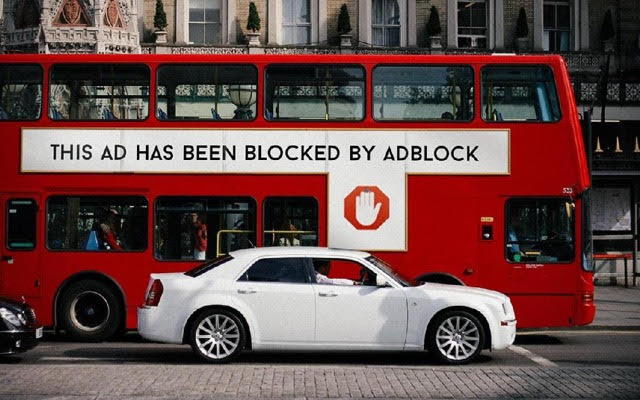 AdBlock advert on a bus