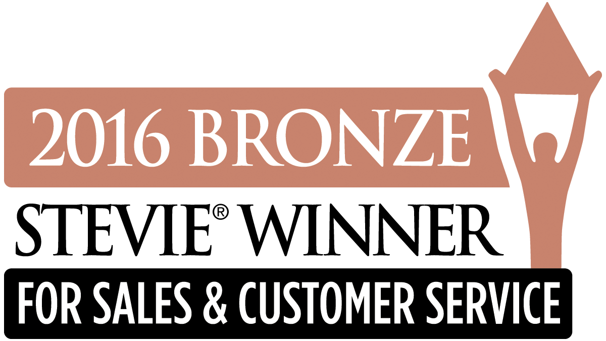 2016 Bronze Stevie Award for Sales & Customer Service