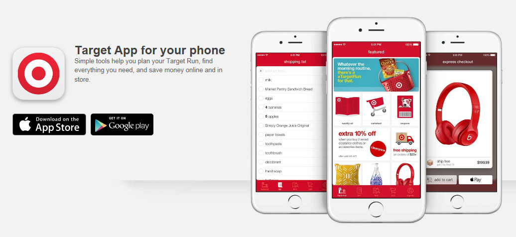 Mobile coupon program target