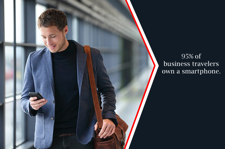 95% of business travelers own a smartphone