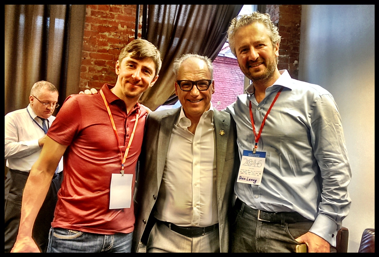 With Alex Petrov (BitFury) and Gerard Inzerillo (Forbes Travel)
