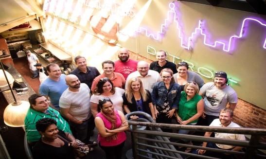 OpenMarket Team - stairwell shot