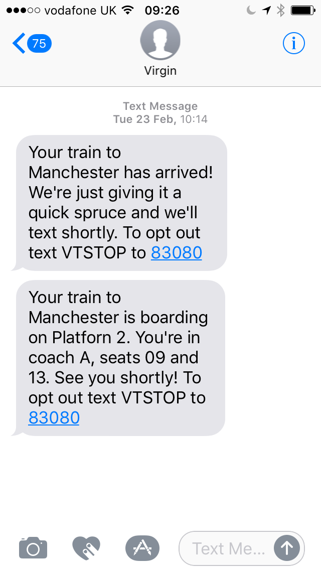 Travel Notifications via SMS